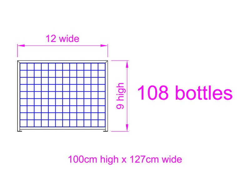9 high x 12 wide Wine Rack
