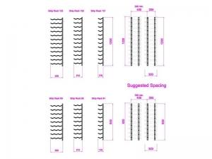 9 high x 1 deep Strip Rack 91